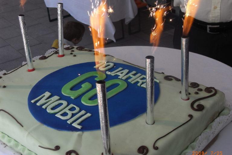 Torte 10-Jahre GO-MOBIL
