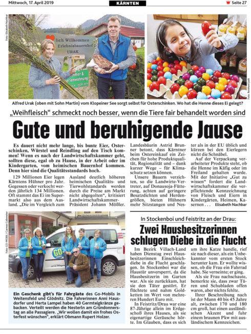 GO-MOBIL Osteraktion Weitensfeld
